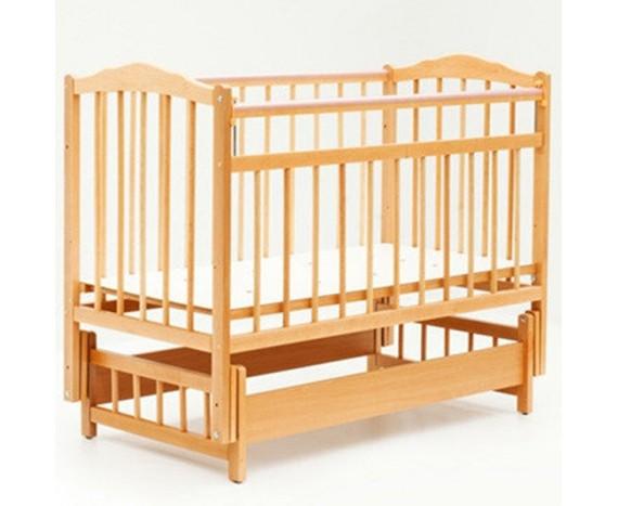 Кроватка Bambini маятник без ящика Натуральный
