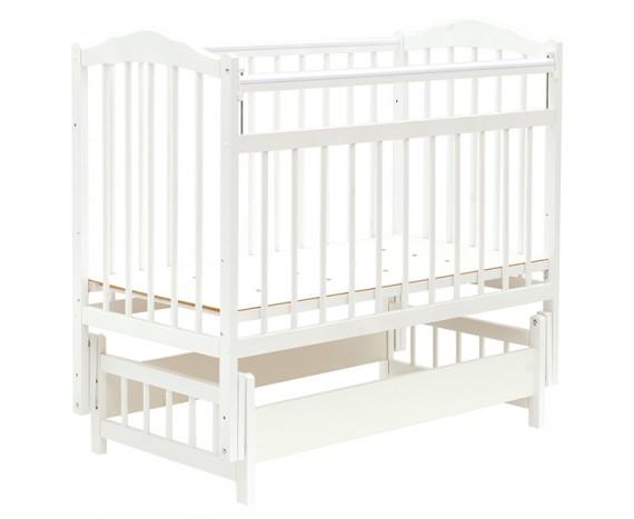 Кроватка Bambini маятник без ящика Белый
