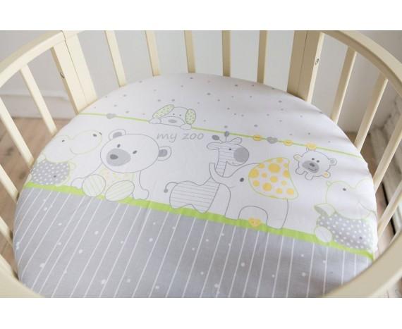 Постелька для новорождённых Баю-Бай Дружба зеленый 9-ти предметный