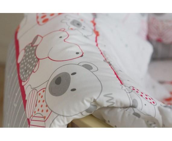 Постелька для новорождённых Баю-Бай Дружба красный 9-ти предметный