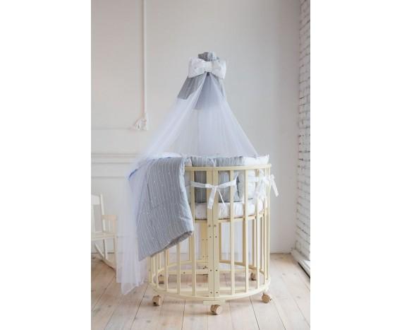 Постелька для новорождённых Баю-Бай Дружба синий 9-ти предметный