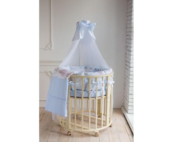 Постелька для новорождённых Баю-Бай Забава голубой 9-ти предметный