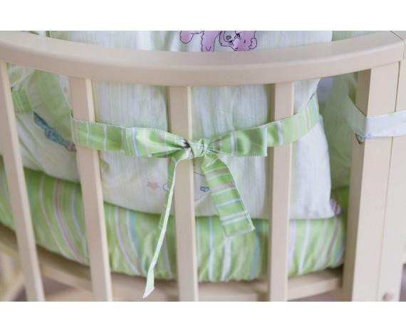Постелька для новорождённых Баю-Бай Забава зеленый 9-ти предметный