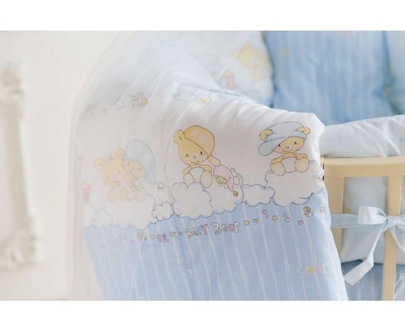 Постелька для новорождённых Баю-Бай Мечта голубой 9-ти предметный