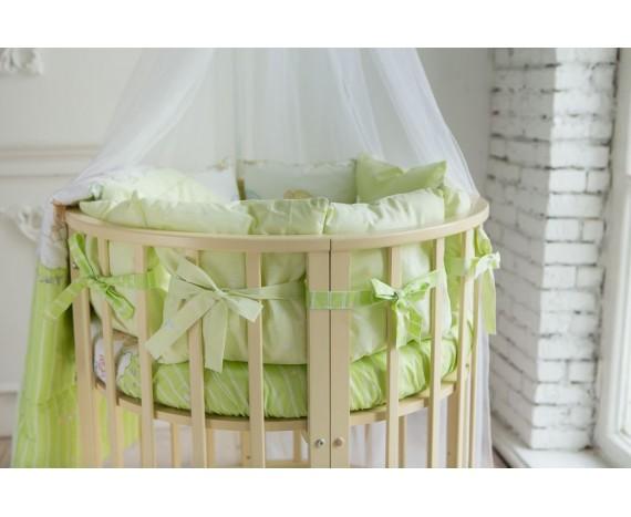 Постелька для новорождённых Баю-Бай Мечта зеленый 9-ти предметный