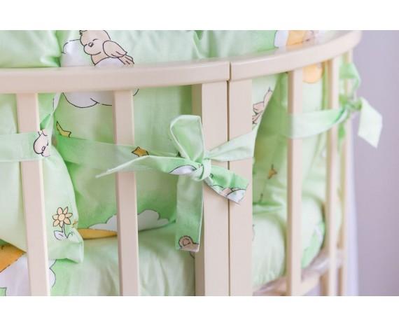 Постелька для новорождённых Баю-Бай Нежность зеленый 9-ти предметный