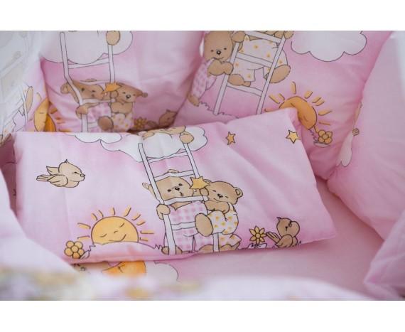 Постелька для новорождённых Баю-Бай Нежность розовый 9-ти предметный