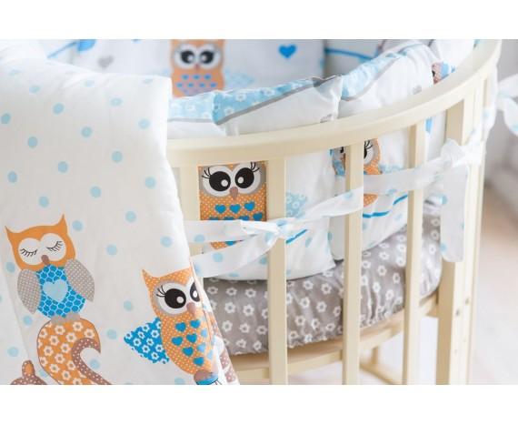 Постелька для новорождённых Баю-Бай Раздолье голубой 9-ти предметный