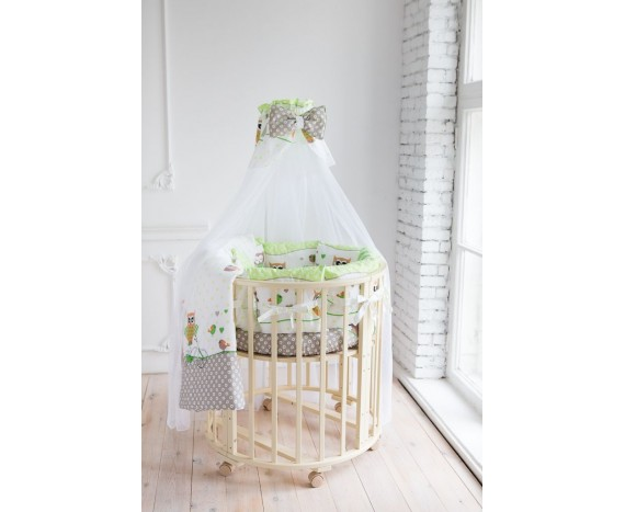 Постелька для новорождённых Баю-Бай Раздолье зеленый 9-ти предметный