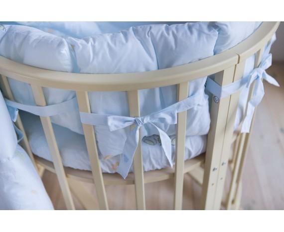 Постелька для новорождённых Баю-Бай Улыбка голубой 9-ти предметный
