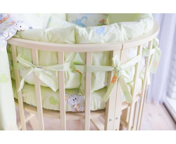 Постелька для новорождённых Баю-Бай Улыбка зеленый 9-ти предметный