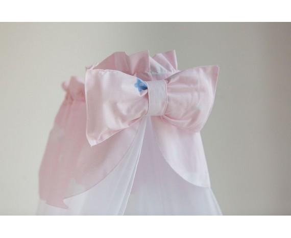 Постелька для новорождённых Баю-Бай Улыбка розовый 9-ти предметный