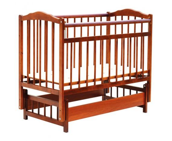 Кроватка Bambini маятник без ящика Светлый орех