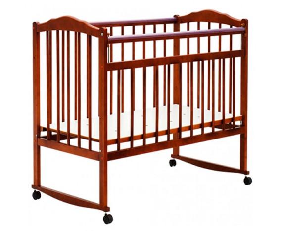 Кроватка Bambini колесо-качалка Светлый орех