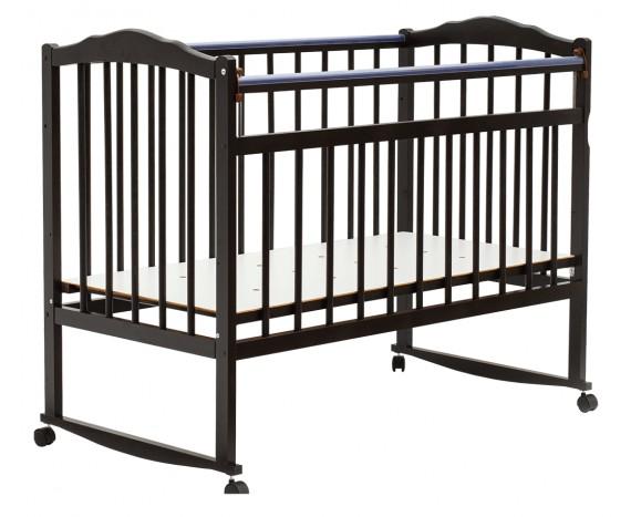 Кроватка Bambini колесо-качалка Темный орех