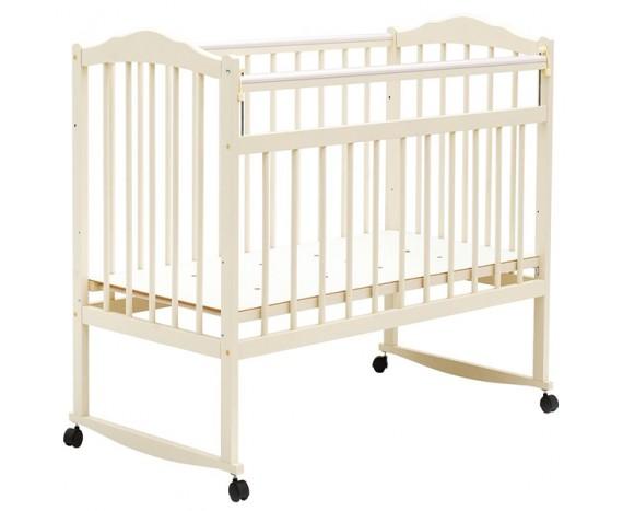 Кроватка Bambini колесо-качалка Слоновая кость