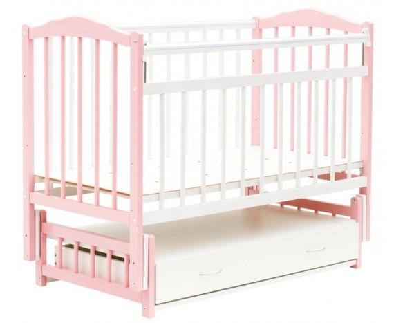 Маятник с ящиком Классик розовый + белый
