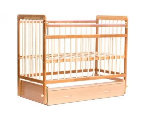 Кроватка маятник с ящиком ЕвроСтиль натуральный