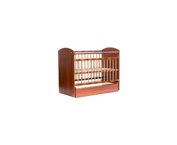 Кроватка маятник с ящиком Элеганс светлый орех