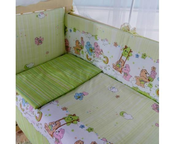 Постелька для новорождённых Баю-Бай Забава салатовый 6-ти предметный