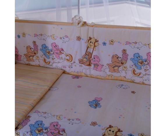 Постелька для новорождённых Баю-Бай Забава желтый 6-ти предметный