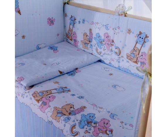 Постелька для новорождённых Баю-Бай Забава голубой 6-ти предметный