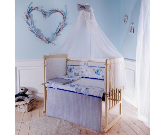 Постелька для новорождённых Баю-Бай Дружба синий 6-ти предметный