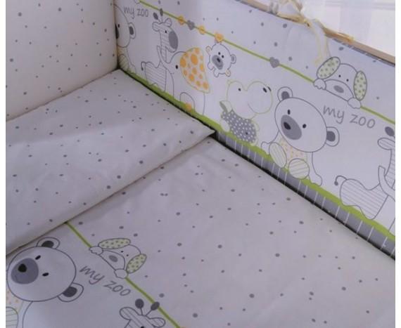 Постелька для новорождённых Баю-Бай Дружба салатовый 6-ти предметный