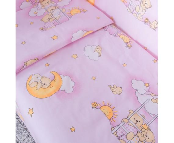 Постелька для новорождённых Баю-Бай Нежность розовый 6-ти предметный