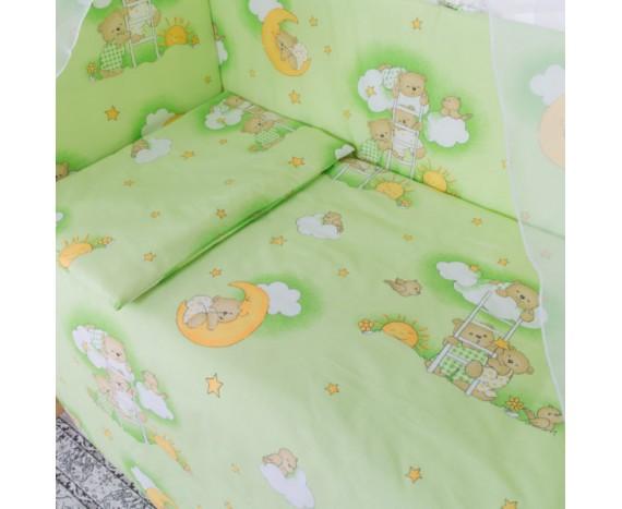 Постелька для новорождённых Баю-Бай Нежность зеленый 6-ти предметный