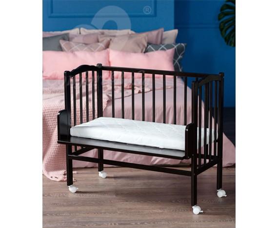 Кроватка «Классик» 2 в 1 черная