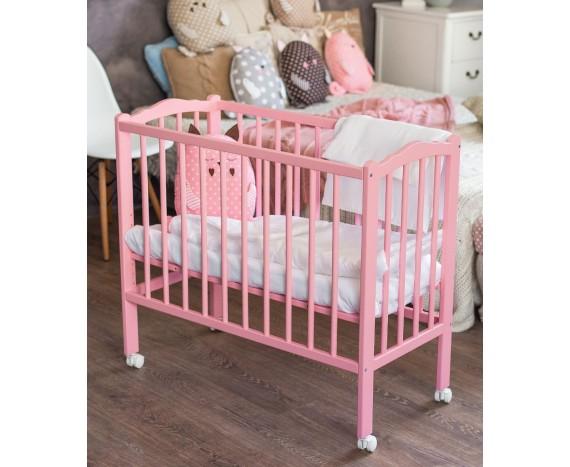 Кроватка «Классик» 2 в 1 розовая