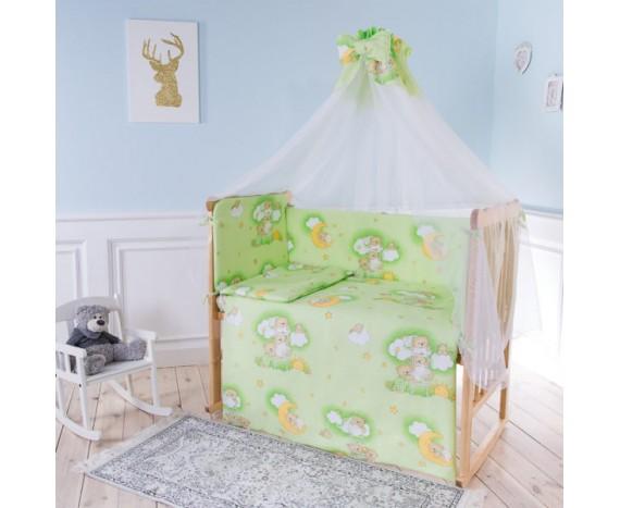 Постелька для новорождённых Баю-Бай Нежность салатовый 7-ми предметный
