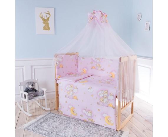 Постелька для новорождённых Баю-Бай Нежность розовый 7-ми предметный