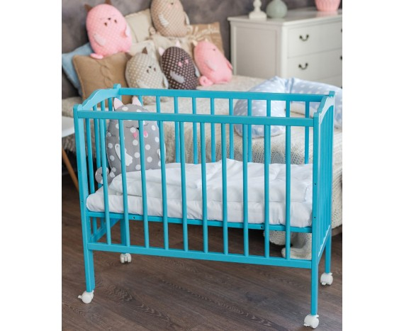 Кроватка «Классик» 2 в 1 голубая