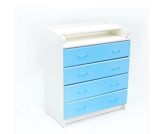 Комод Bambini 01 Бело-голубой