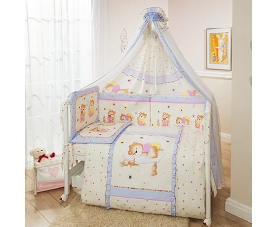 Постелька для новорожденных Перина Teddy Bear (violet)