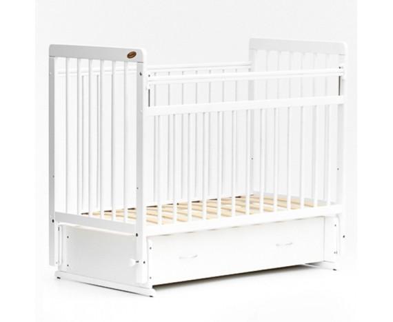 Кроватка «мультимаятник» с ящиком ЕвроСтиль белый