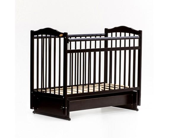 Кроватка «мультимаятник» без ящика Классик темный орех