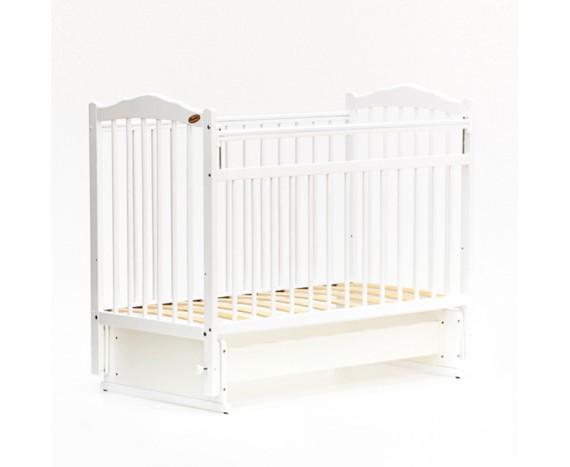 Кроватка «мультимаятник» без ящика Классик белый