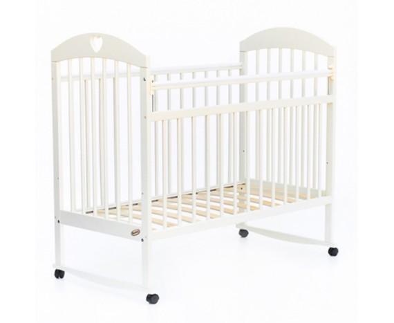 Кроватка колесо-качалка Комфорт белый