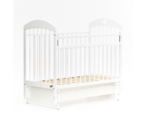 Кроватка Комфорт «мультимаятник» белая