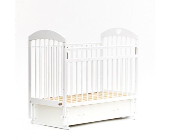 Кроватка «мультимаятник» с ящиком белая
