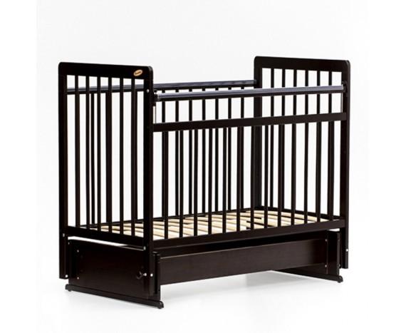 Кроватка «мультимаятник» без ящика ЕвроСтиль темный орех