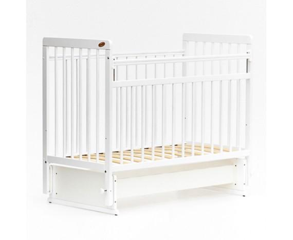 Кроватка «мультимаятник» без ящика ЕвроСтиль белый