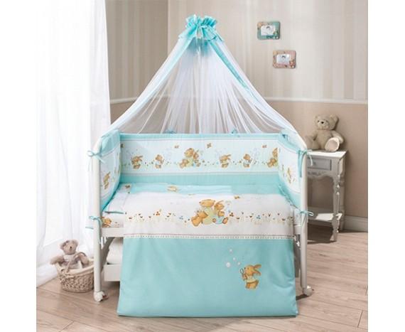 Постелька для новорожденных Перина «Фея» Лето голубая