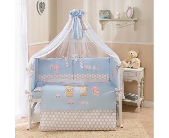 Постелька для новорожденных Perina Венеция «Лапушки» голубая