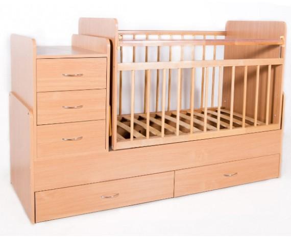 Кроватка Bambini трансформер Натуральный