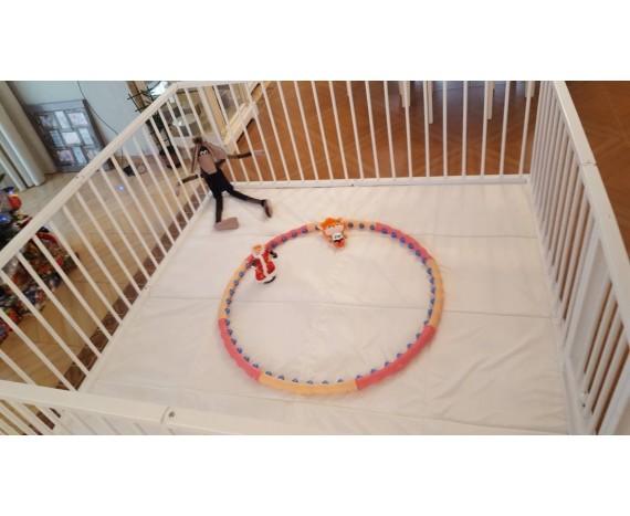 Детский коврик для манежа Bambini цвет Айвери