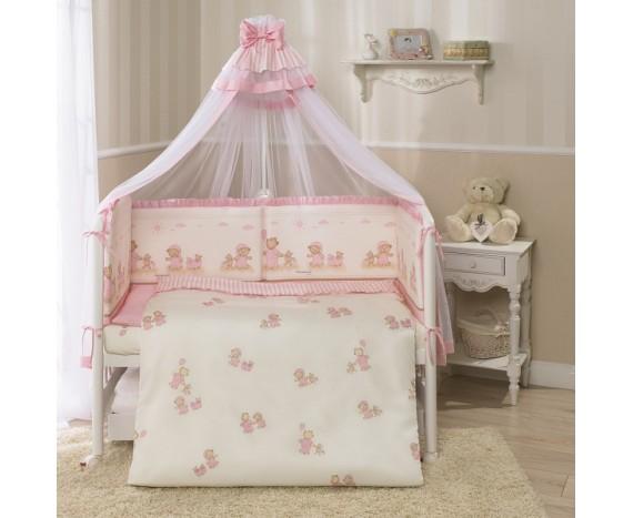 Постелька для новорожденных Тиффани розовая